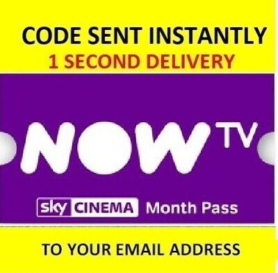 NOW TV Cinema Movie Pass - 1 Month Pass **INSTANT DELIVERY**