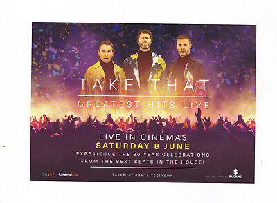 TAKE THAT Greatest Hits Live Tour 2019 Cinema advertising postcard
