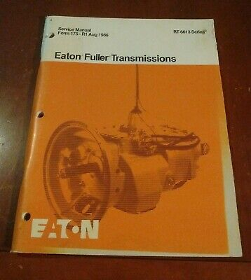 EATON FULLER RT-6613 Series Transmission Parts Manual book