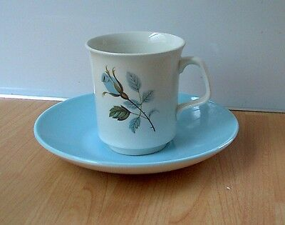 J&G MEAKIN 'BLUE ROSES' Cup & Saucer, Retro, vintage, mid century, shabby chic