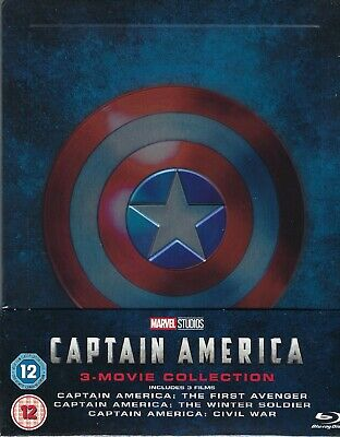 Captain America 3-Movie Collection w. 1/4 SlipCover (Region A, B & C UK Import)