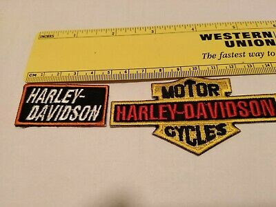 2 Toppa Patch Ecusson Abzeichen Moto Harley Davidson  Motorcycle Thermoaderente