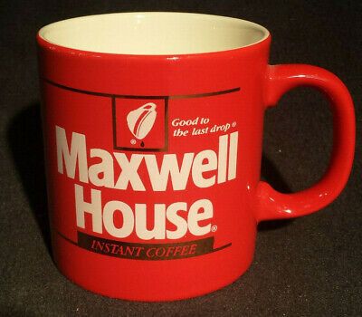 80s Instant Maxwell House Coffee Rare Vintage Red Cup Mug 9
