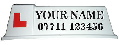 Driving School Roof Sign Graphics, Stickers for Car Roof Sign - (C07)