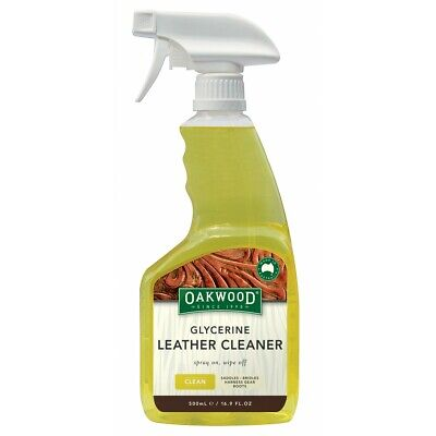 Oakwood Glycerine Leather Cleaner 500ml - ALL Leather goods, Leather Cleaner