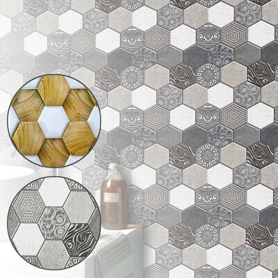 Household Hexagon wall sticker Easy installation PVC Background Self adhesive