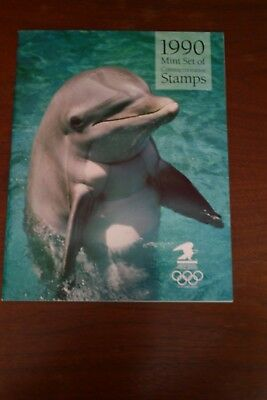 US 1990 Commemorative Stamp Collection USPS Book Complete with Stamps