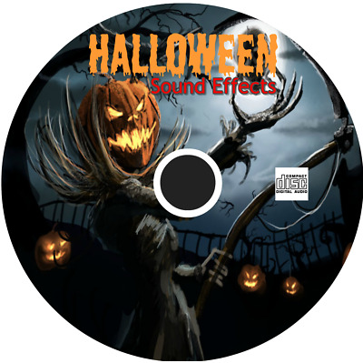 HALLOWEEN SOUND EFFECTS Cd - Party Scary Spooky Kids (290+