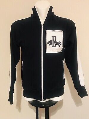 Mens Puma Track Jacket Black White Exc Condition