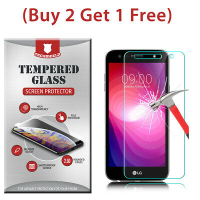(2-Pack) Tempered Glass Film Screen Protector For LG X Power 2 LV7 M320