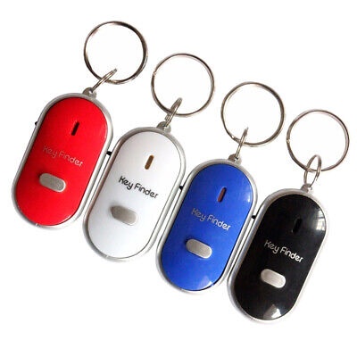 Pack of 4 Car Anti-Lost Key Finder Locator Keychain Whistle Sound Control