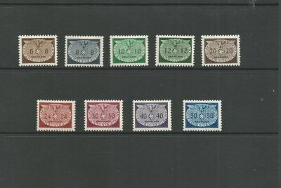 1940 WW2 POLAND GERMAN GENERAL GOVERNMENT  M/Mint Official Stamp Set SG 0407-415