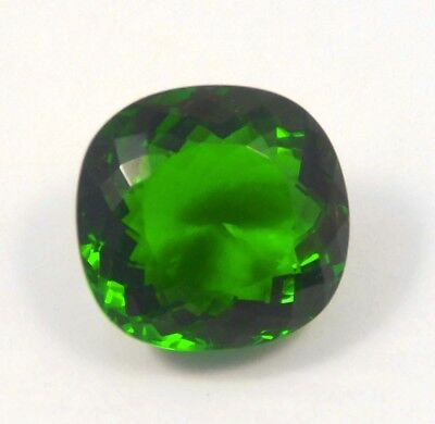 32 Cts. Natural Dyed Faceted Cut Dark Green Emerald Cabochon Gemstone SNG12293