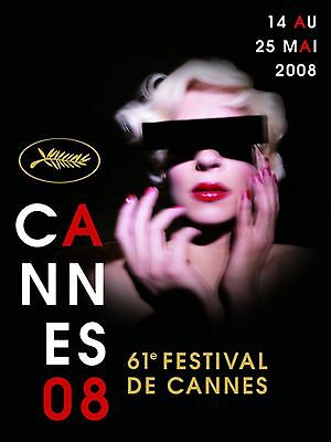 AFFICHE CANNES FILM FESTIVAL DAVID LYNCH 2008 POSTER 60x80 CM / 23,6x31,5""