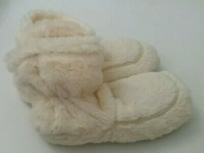 f9c51ece4 NEW cozy soft faux fur microwavable slippers boots indoor shoes chic cream  beige