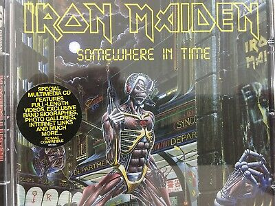 IRON MAIDEN - Somewhere In Time CD 1998 EMI AS NEW! Enhanced
