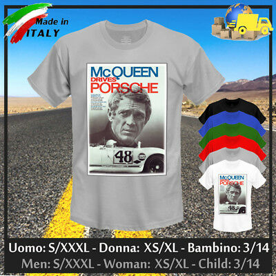 """T-shirt """"STEVE"""" The Driver, King of Cool Gulf GP Cup Rally Vintage, Collez 2019!"""