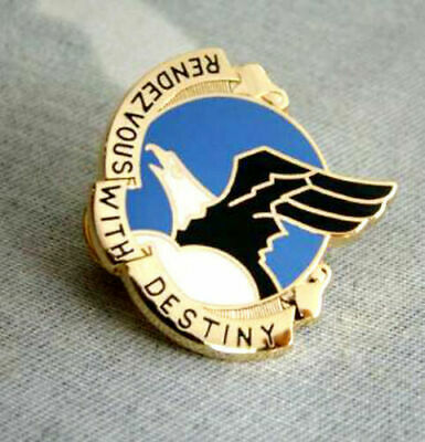 Us Metal Rendezvous With Destiny Emblem Badge Pin Classic Military