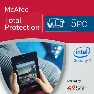 McAfee Total Protection 2019  5 PC 1 Year  1 user UK