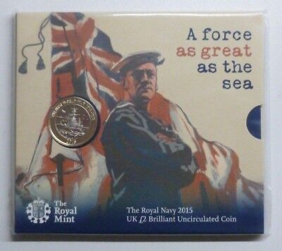 2015 Royal Navy First World War HMS Belfast Royal Mint BUnc £2 Coin Sealed Pack