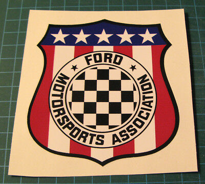 Vintage Ford Motorsports Association Vinyl Decal Sticker - SCCA Racing - Boss