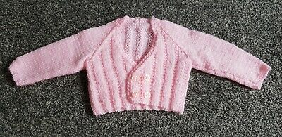 Brand new hand knitted baby cardigan first size / newborn