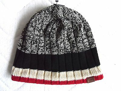 "ROOTS CANADA Salt n' Pepper Beanie Hat UNISEX Toque UNISEX NEW ""Fleece Lined"""