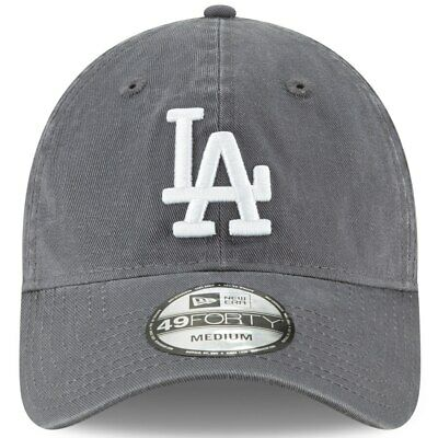 Los Angeles Dodgers New Era Core Fit 49FORTY Fitted Hat - Charcoal