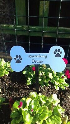 Engraved pet Memorial Stake Grave/Tree Marker Cremation with Personalised Plaque