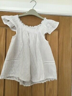 NEXT Girls White smock top - age 10 years