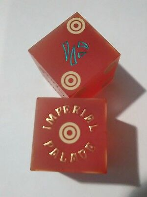 1980s IMPERIAL PALACE HOTEL CASINO LAS VEGAS, NEVADA MATCHING DICE PAIR!