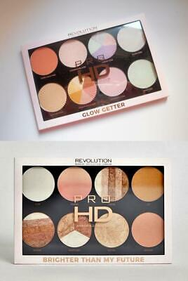MAKEUP REVOLUTION Amplified Large HIGHLIGHTER PALETTE 8 Pan PROFESSIONAL Size