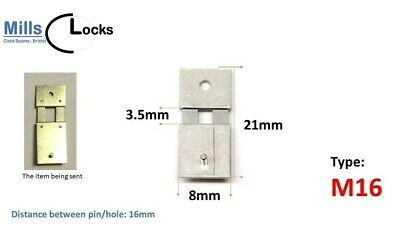 Steel Clock Pendulum Suspension Spring. (21mm x 3.5mm x 8mm) (Type M16)