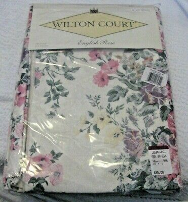 """Wilton Court """"ENGLISH ROSE"""" table cloth . 60""""x84"""" oblong  NEW cotton/polyester"""