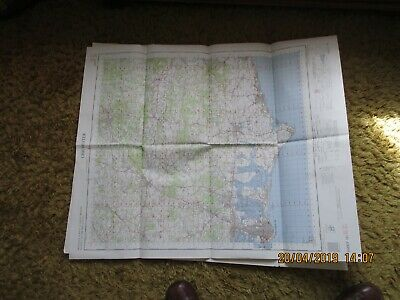 Originalordnance Survey Map 181  Chichester Pub War Office Air Ministry 1961