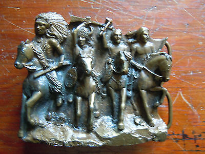 1980's Vintage Bergamot Brass Works Native American Indian Pewter Made in USA