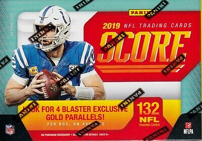 2019 Panini Score Football sealed blaster box 11 packs of 12 NFL cards