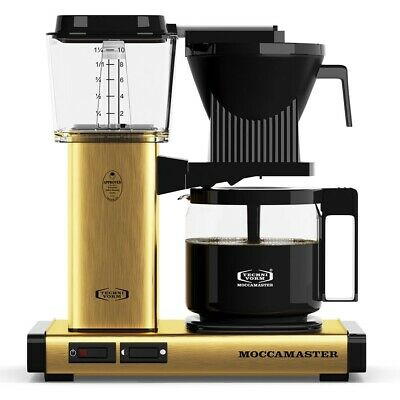 Moccamaster KBG Coffee Maker - Automatic Drip-Stop – 40oz Glass Carafe - Brushed