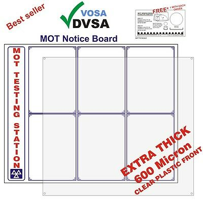 Mot Sign | Mot Signs | Mot Sign Pack | Mot Notice Board | Vosa Dvsa Approved