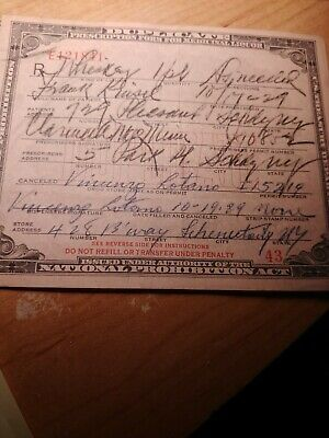 Prohibition Prescription Vintage 1927