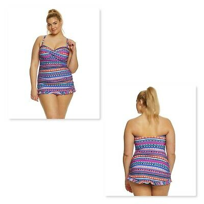 28428f139ec6e Profile by Gottex Plus Size Tapestry Printed Tummy-Control Swimdress Size  22W
