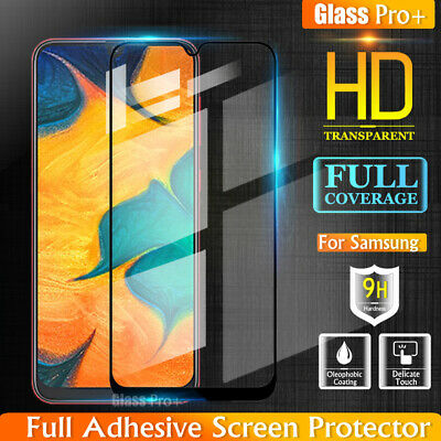 Galaxy A20 A30 A50 A70 Full Coverage Tempered Glass Screen Protector For Samsung
