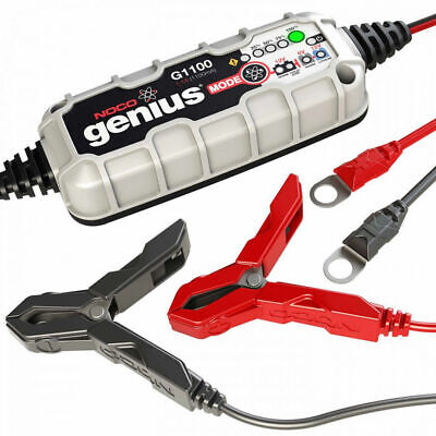 Noco Genius G1100 Motorcycle Battery Charger 6V 12v 1.1A Acid Gel Lithium