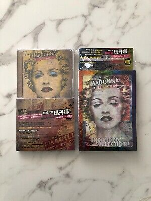 Madonna Celebration Taiwan Poster+2-CD w/OBI! + DVD Video Collection madame x