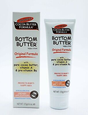 Palmers Cocoa Butter Formula Baby Bottom Butter Nappy Cream 125g Bum Vitamin A