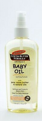 2 x Palmers Cocoa Butter Formula Baby Oil Softens Skin 150ml Each Baby Massage