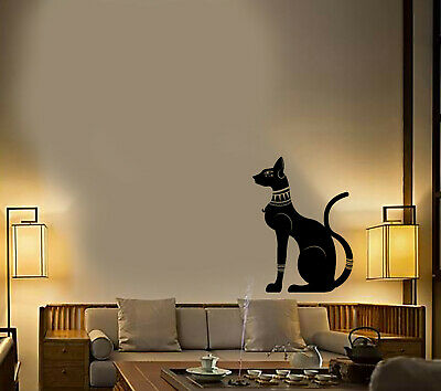 Vinyl Wall Decal Egyptian Cat God Ancient Egypt Stickers (3653ig)