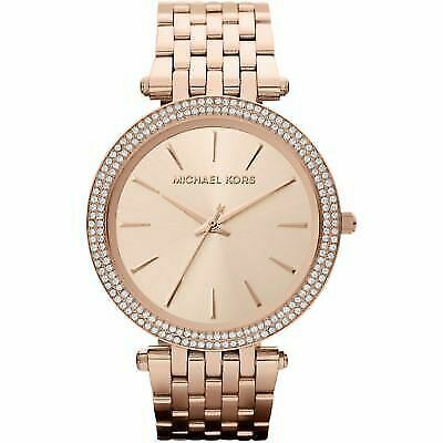 Michael Kors Parker Glitz Rose Pave Bezel Ladies Watch MK3192
