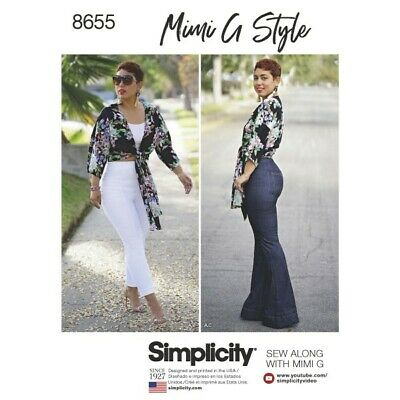 Simplicity Mimi G High Waisted Trousers and Tie Top Sewing Pattern 8655