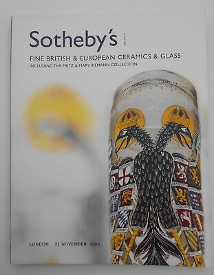 Fine British And European Ceramics And Glass Sothebys Catalogue November 2006